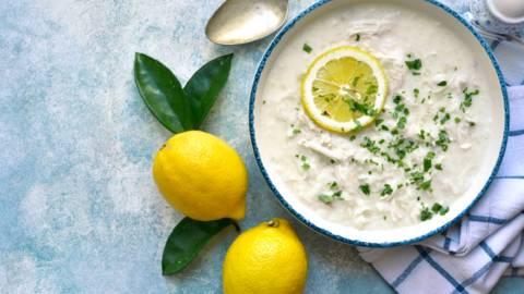 Lemony Chicken and Rice Broth