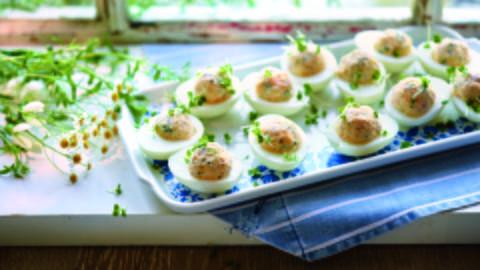 Stuffed Eggs with Ham