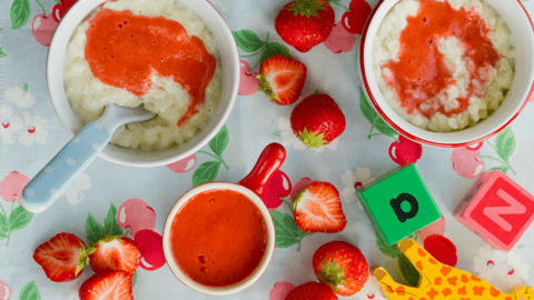 Strawberry Rice Pudding