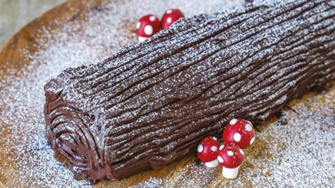 Homemade Yule Log