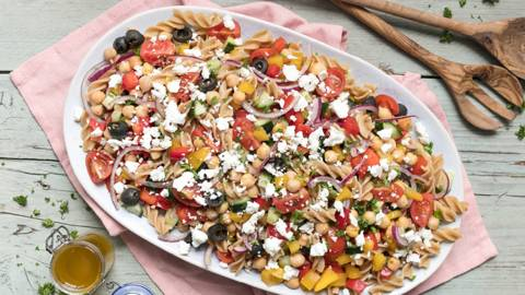 Chickpea Summer Pasta Salad