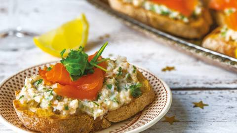 Smoked Salmon & Crab Bruschetta