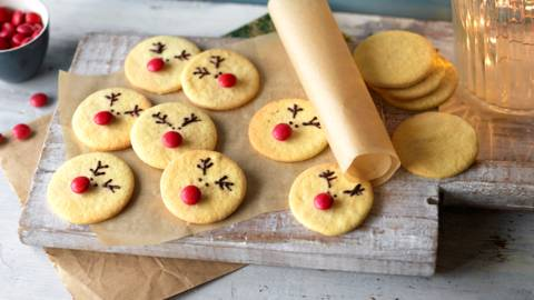 Rudolf with the Red Nose Cookies