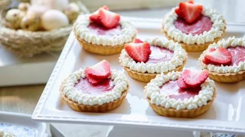Strawberry Curd Tarts