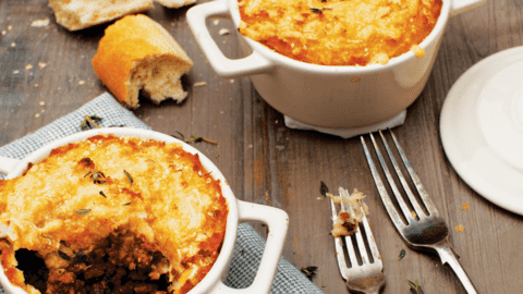 Cottage Pie with Parsnip and Melted Cheddar Mash