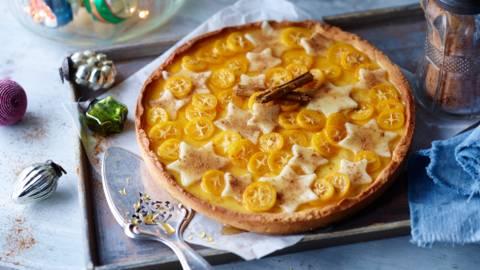 Orange Tarte with Kumquats