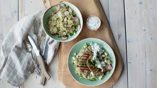 Lamb Leg Steak with Quinoa Salad