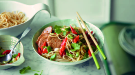 Fried Noodles with Asian Pork Fillet