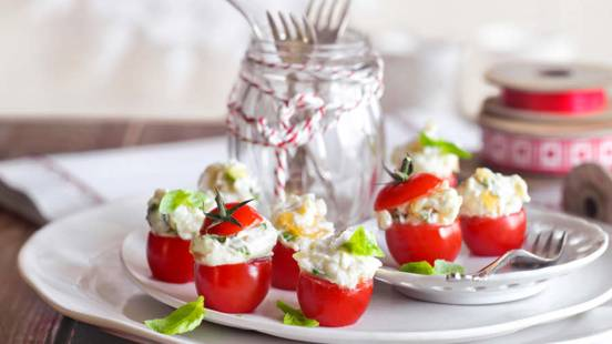 Mini Tomatoes with Caramelised Onions and Goat's Cheese