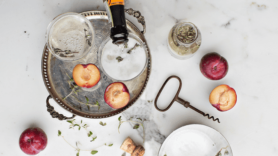 Prosecco, Plum & Thyme Cooler