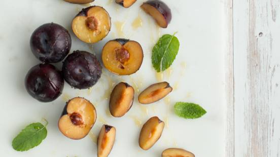 Honey Roasted Plums
