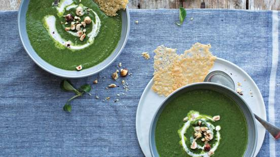 Spinach and Celeriac Soup