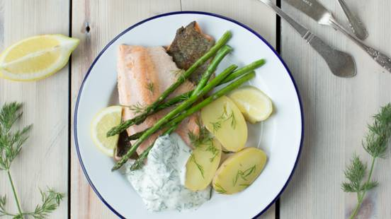Rainbow Trout with Spuds and Dill