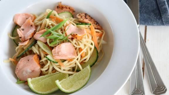 Super-Quick Salmon Noodles