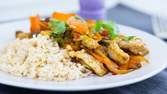 Pork & Carrot Stir-Fry