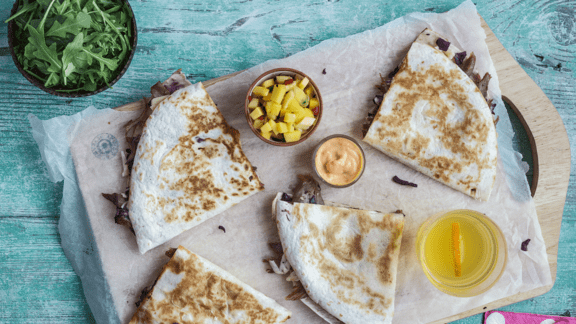 Leftover Pancake Quesadillas