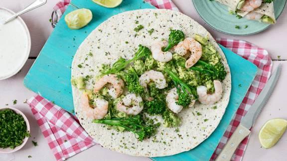Prawn, Avocado and Broccoli Wrap