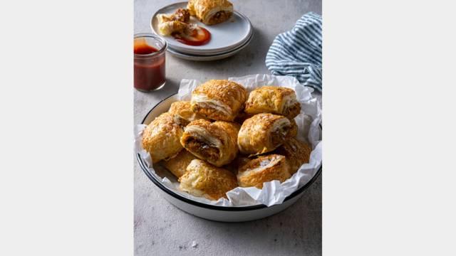 Vegetarian Nut Roast Sausage Rolls