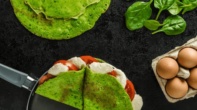 Green Spinach,Basil Crêpes