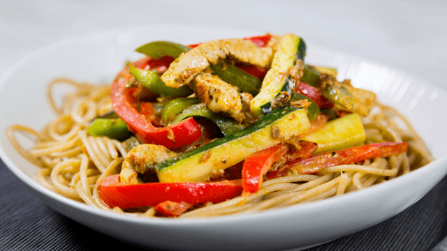 Turkey Pesto Pasta