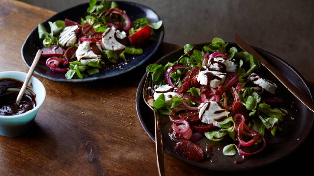 Beetroot Salad with Chocolate Balsamic Dressing