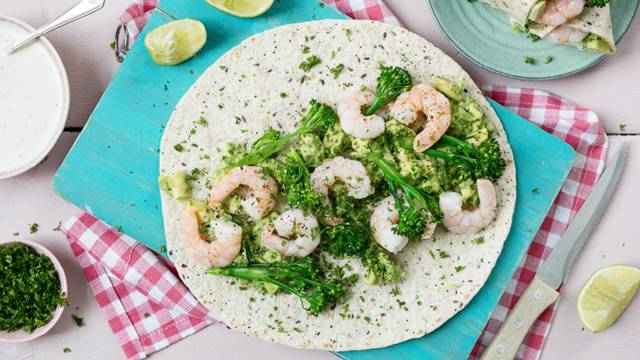 Prawn, Avocado and Broccoli Wrap