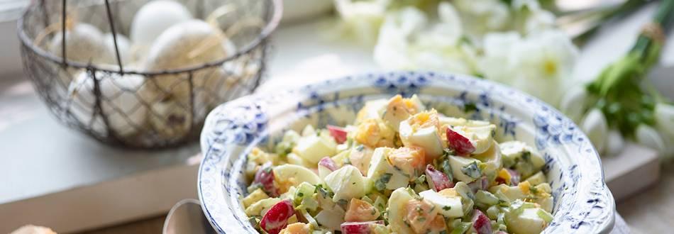 Egg salad with homemade herbal