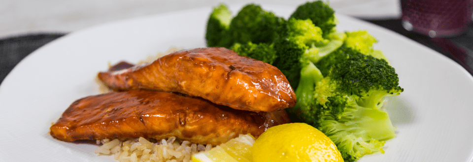 Soy Salmon with Rice