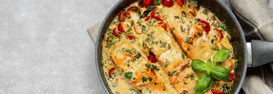 Pan Fried Salmon with Mediterranean Butternut Squash
