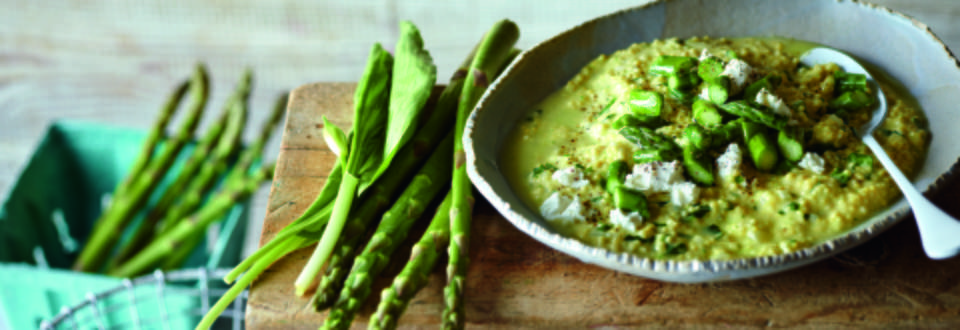 Wild Garlic Risotto with Green Asparagus