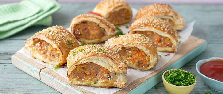 Hidden Vegetable Sausage Rolls